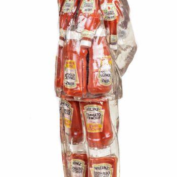 Alben-artiste-sculpture-mao-ketchup-inclusion-résine