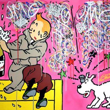 Gnidzaz-jean-michel-Tintin-peinture