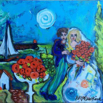 raya sorkine-toile- artiste -peinture le cypres du bonheur