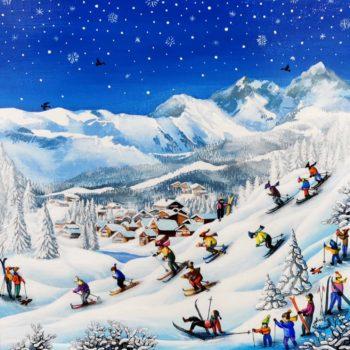 charlotte-Lachapelle-peinture-art-naif-toile-neige-montagne
