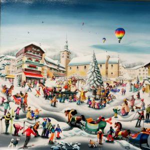 charlotte lachapelle-peinture-artnaif-toile-megeve