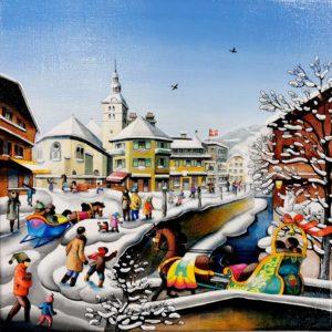 charlotte lachapelle-peinture-art-naif-toile-megeve