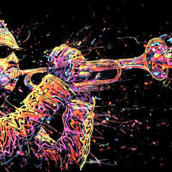 flow artiste dripping toile roy hargrove