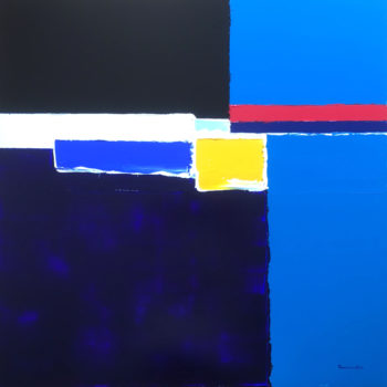 fontdeville toile peinture bleu marine