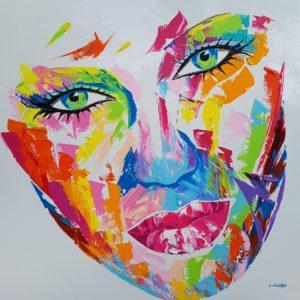 nolleau laurence tableau peinture-visage