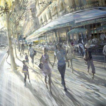 kerdalo-artiste-toile café les deux magots paris
