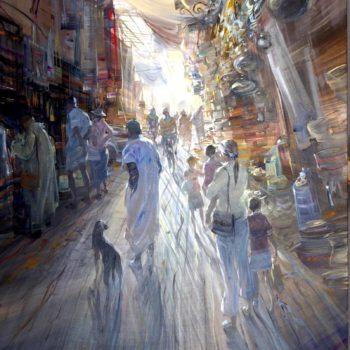kerdalo artiste toile marrakech le souk