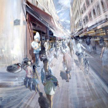 kerdalo artiste toile rue mouffetard paris
