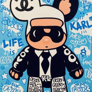 Johanne8 - toile - peinture - street art - pop art -karl lagarfeld - chanel