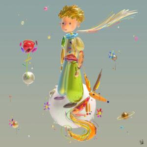 boutet studio artiste tableau sculpture digitale petit prince