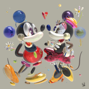 boutet studio artiste tableau sculpture digitale-mickey-minnie