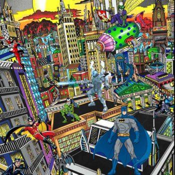 fazzino tableau 3D pop art sérigraphie