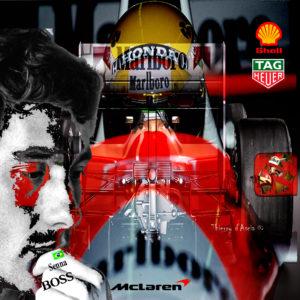 Thierry D'Ascia-peinture-Ayrton Senna