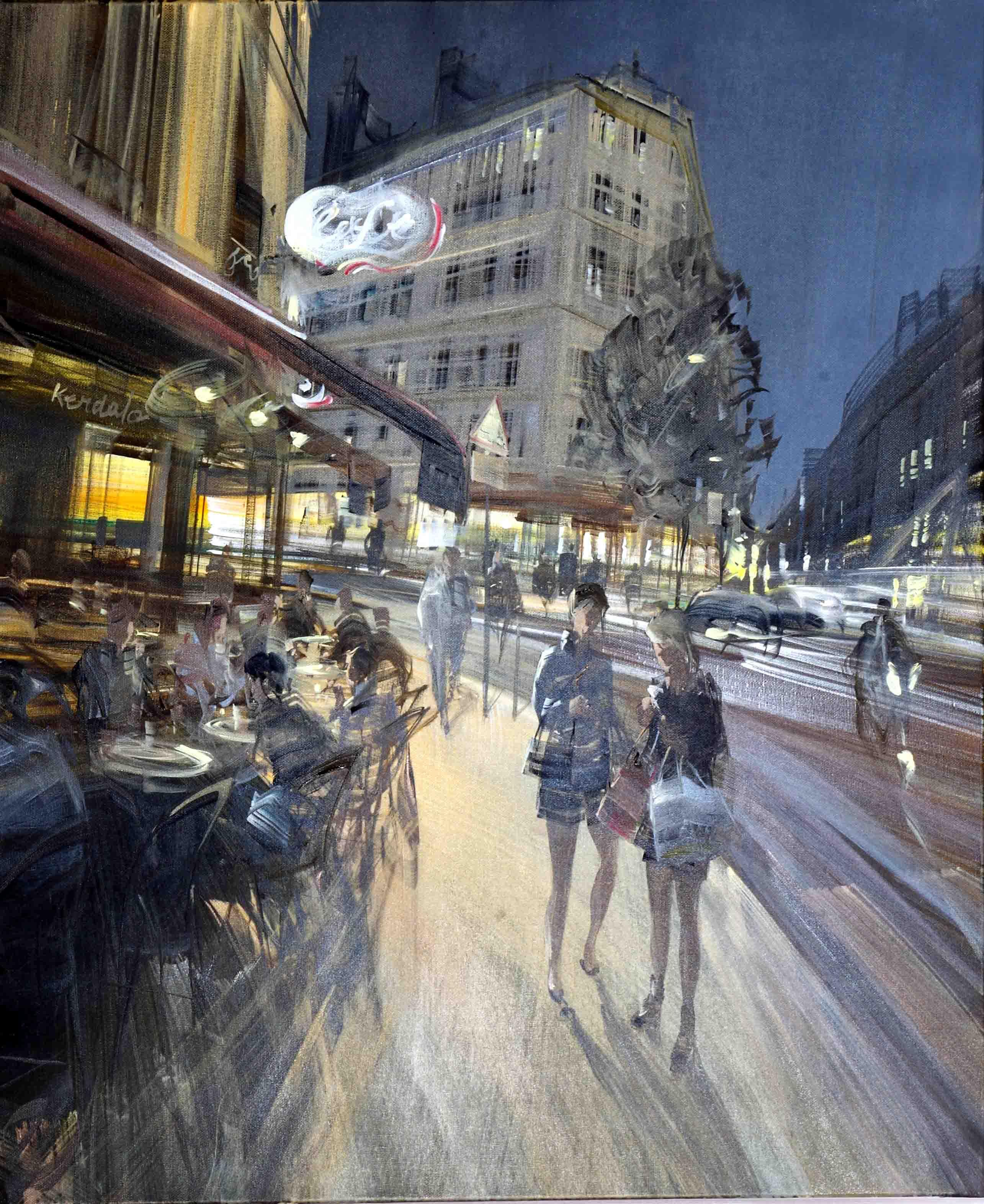 kerdalo toile peinture café de bucci paris 5eme