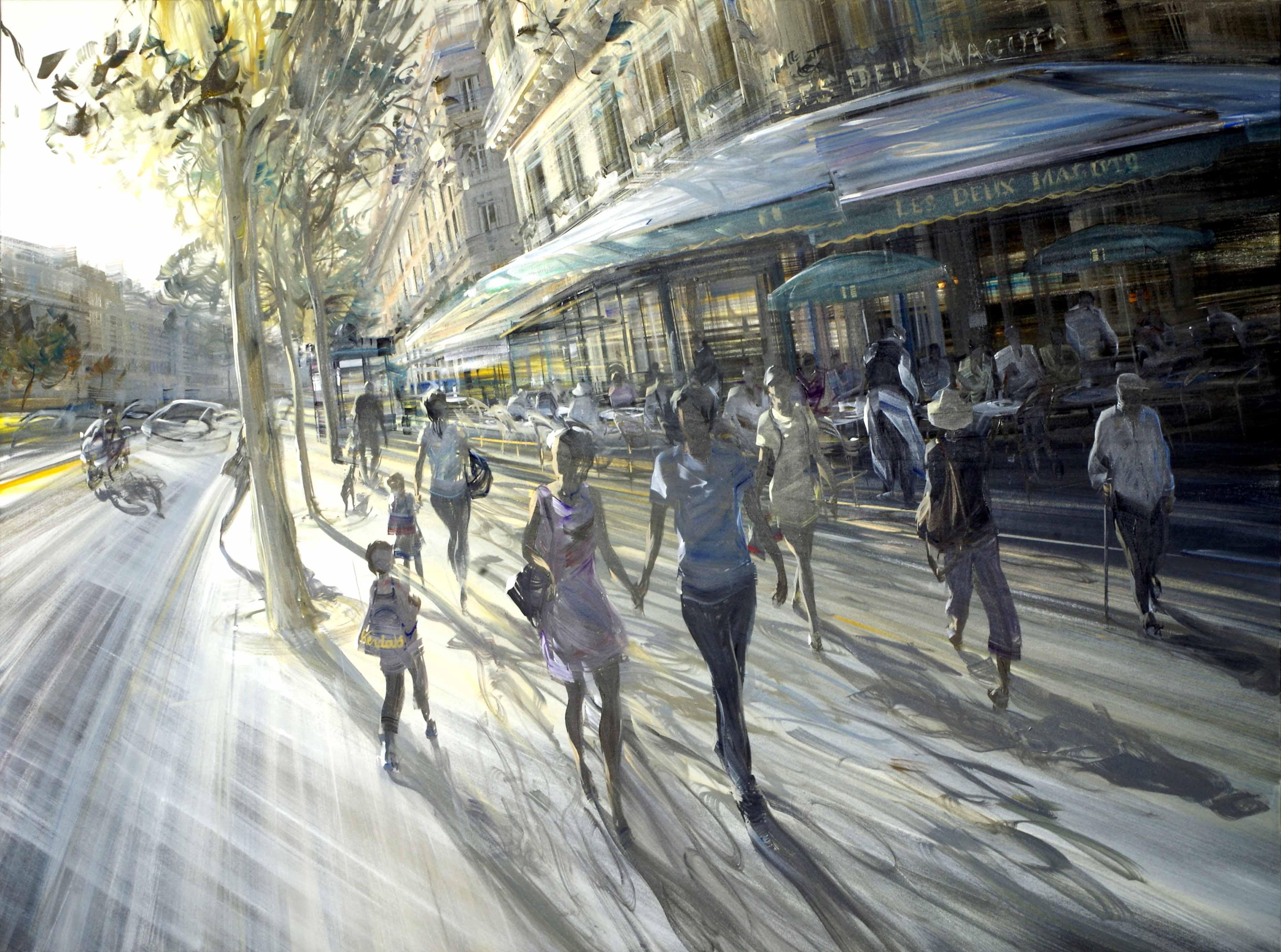 kerdalo artiste peinture café les deux magots paris