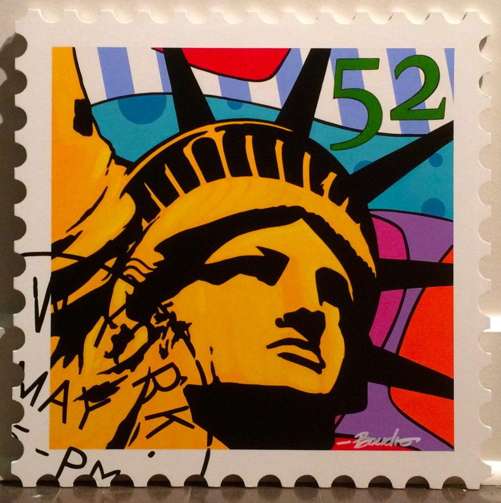 boudro-peinture-tableau-stamp-statue-de-la-liberté