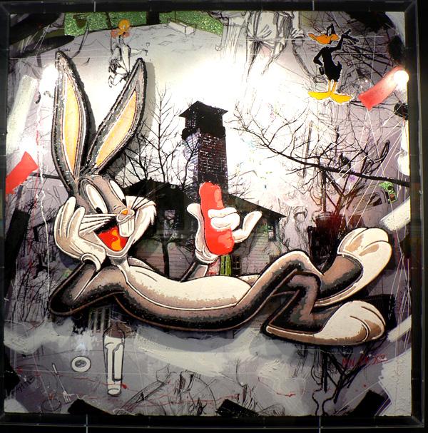 mnff-bugs-bunny-technique-mixte-toile-artiste