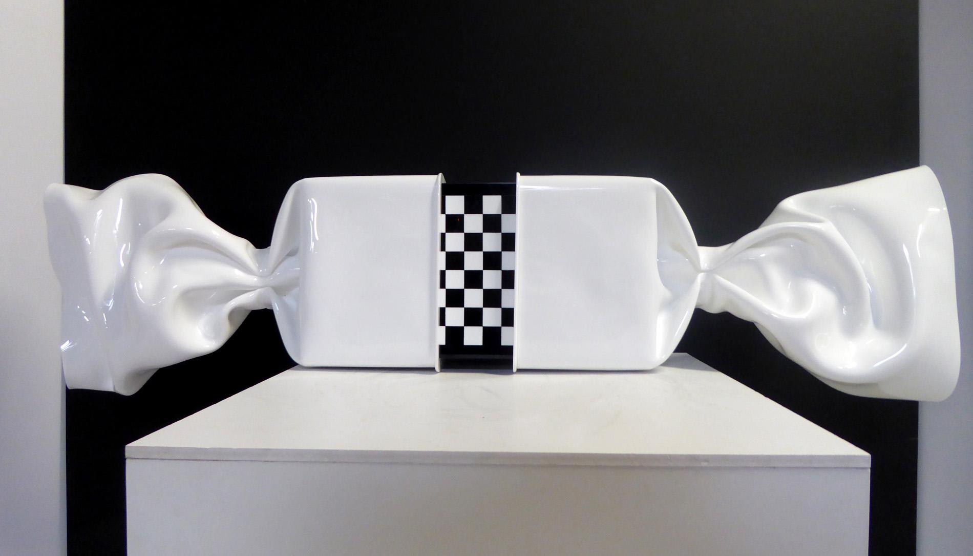 jenkell wrapping bonbon plexiglas blanc et noir