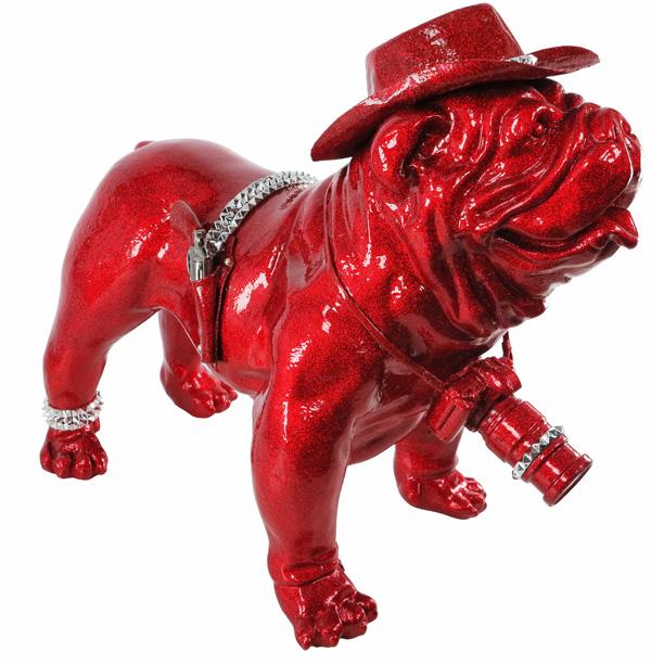 mr-live-chien-sculpture-résine-cowboy