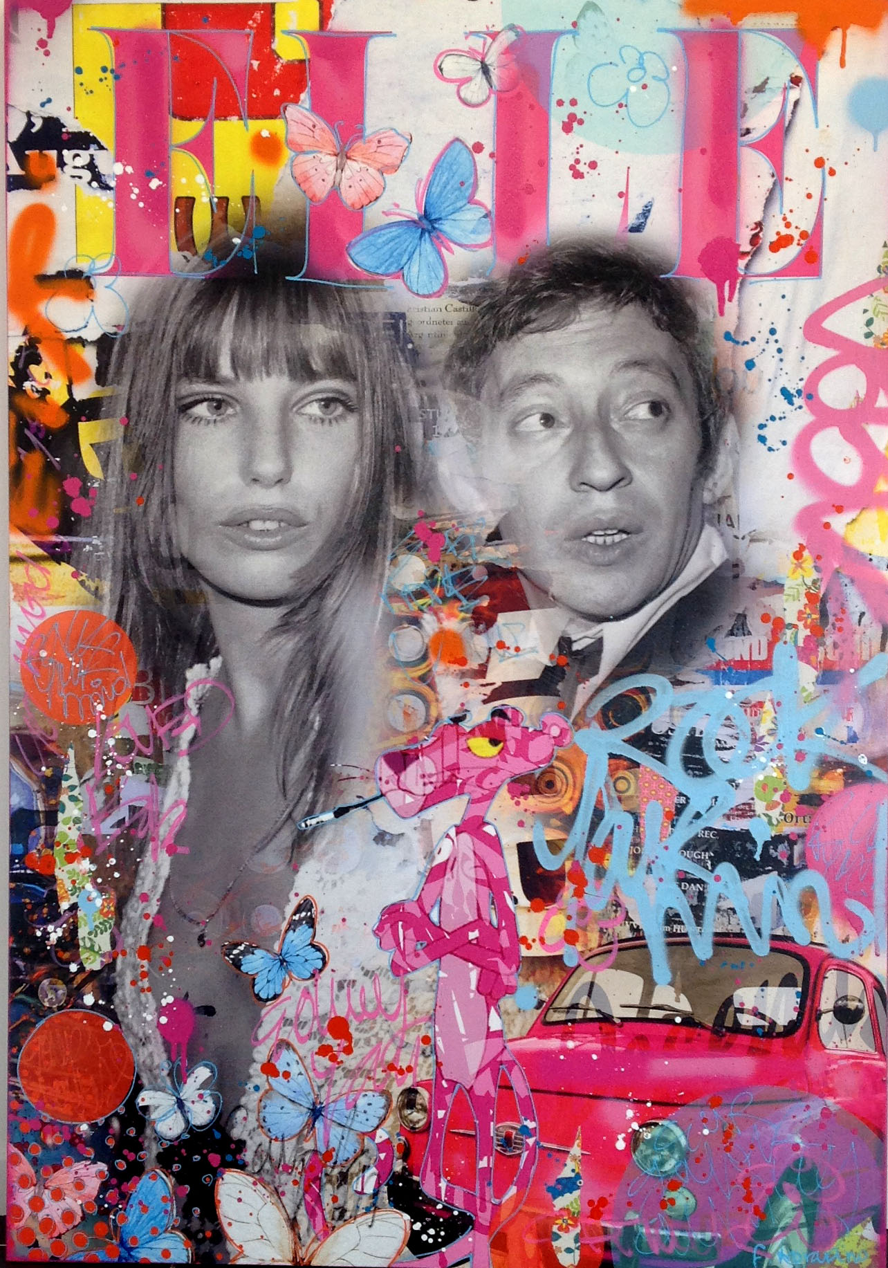 Serge-gainsbourg-Fabien-Novarino-tableau-pop-art