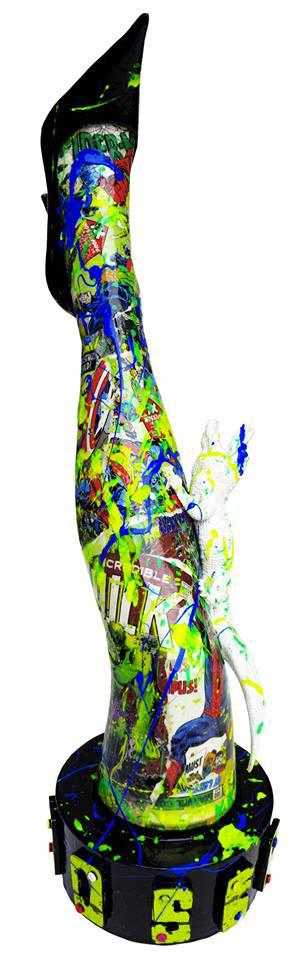 mr-live-sculpture-résine-jambe-street-art