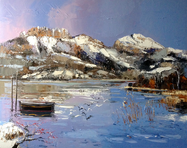 novarino-huile-sur-toile-lac-annecy-paysage