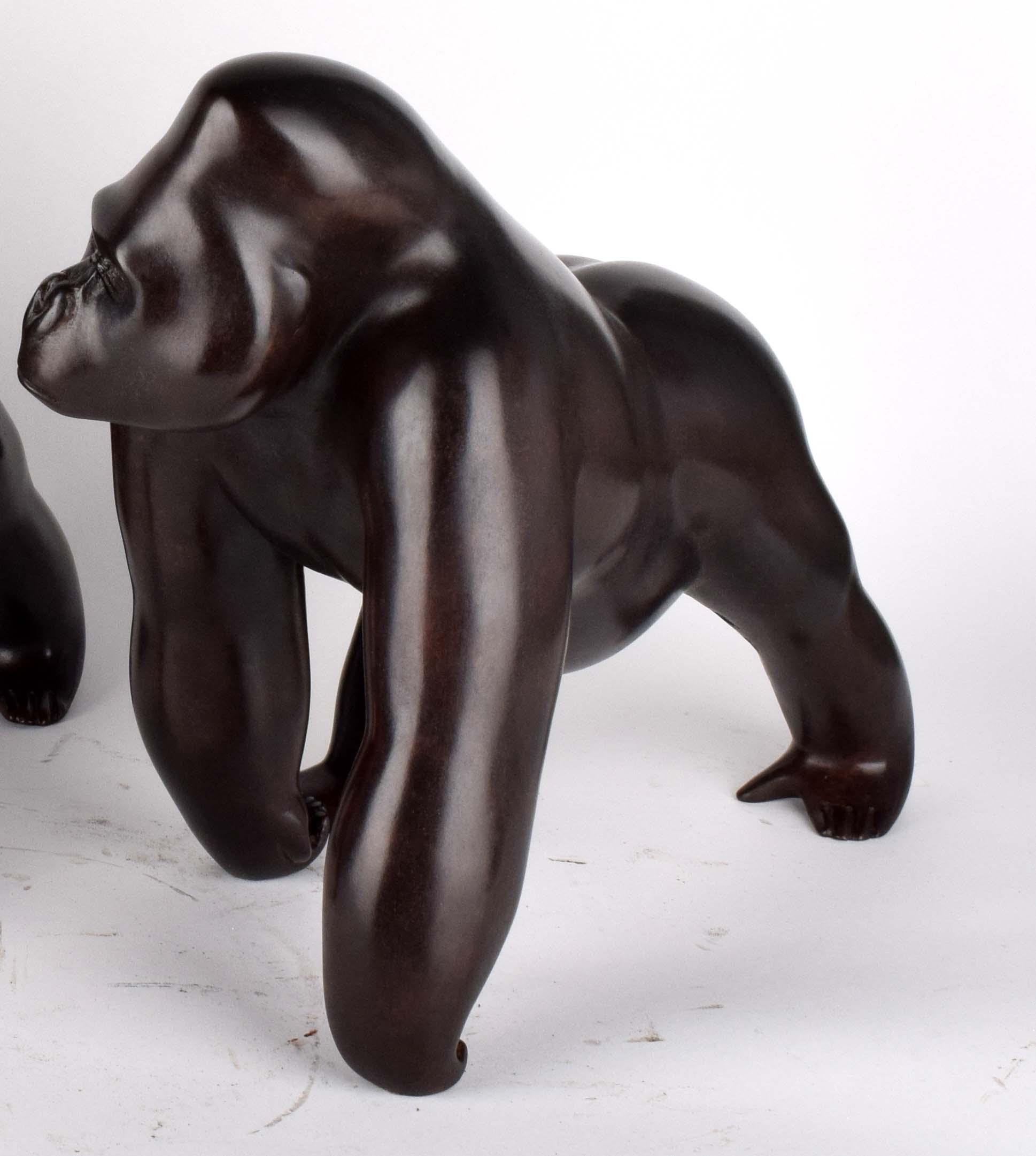 gorille-bronze-animaux-bassompierre-sculpture