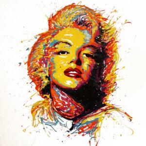 flow-artiste-dripping-toile-marilyn-monroe