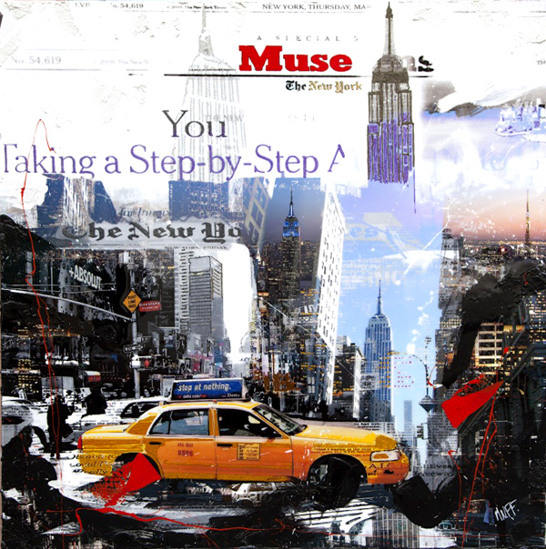 mnff-taxi- new-york-technique-mixte-toile-artiste
