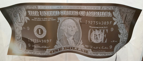 karl lagasse one dollar sculpture