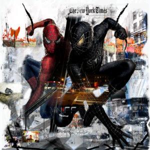 mnff-spiderman-technique-mixte-toile-artiste