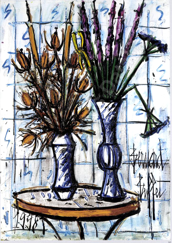 bernard-buffet-huile-sur-toile-fleurs-bouquet
