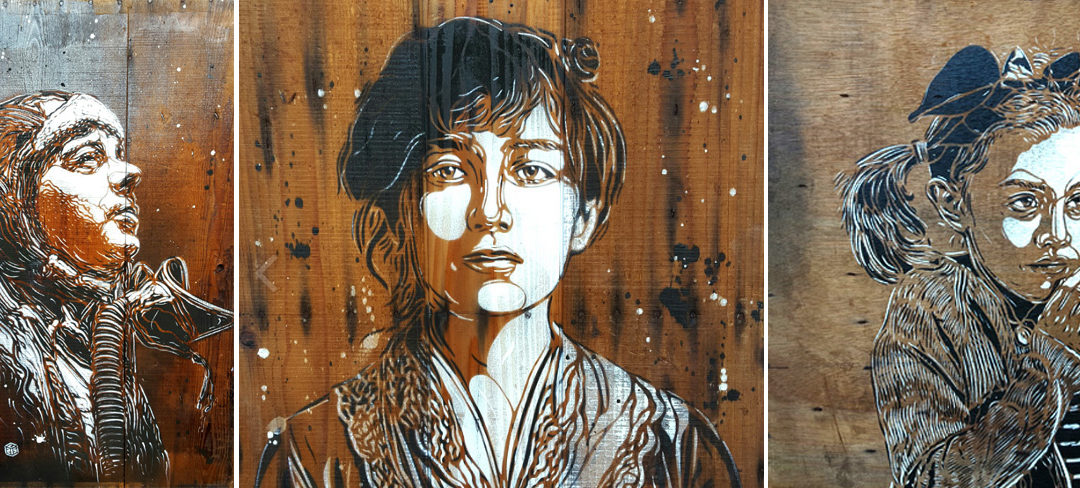 C215 Major performing artist Street Art in Gallery Saint Martin