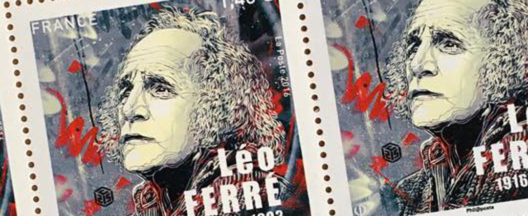 Edition of 1 million stamps for the 100th birthday of the poet Léo Ferré byC215