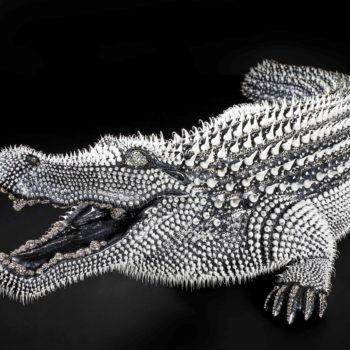 Eddy-Maniez-sculpture-silicone-crocodile