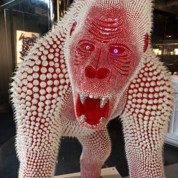 maniez gorille rouge silicone blanc