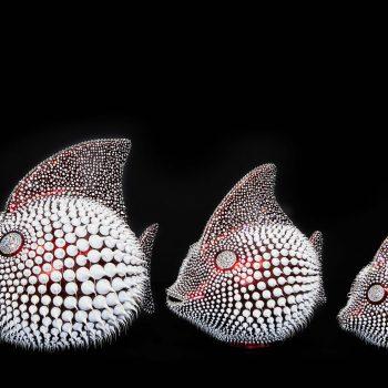eddy-maniez-silicone-résine-poisson-lune-pointillisme