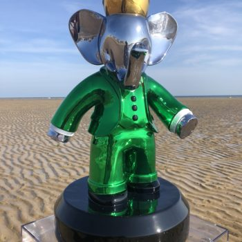 babar vert - babolex - vincent faudemer - sculpture