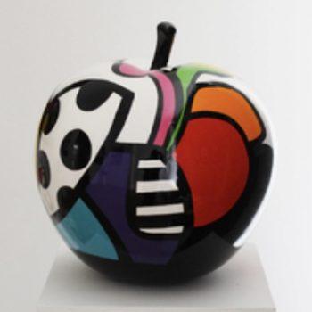 benedicto pomme sculpture acrylique