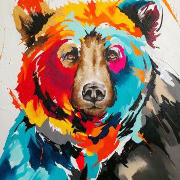 Josée-Forest-tableau-peinture-ours