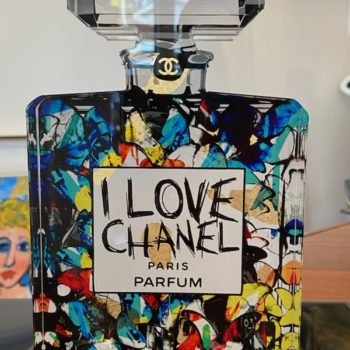 Fred-meurice-flacon-chanel-sculpture-tableau-plexiglas
